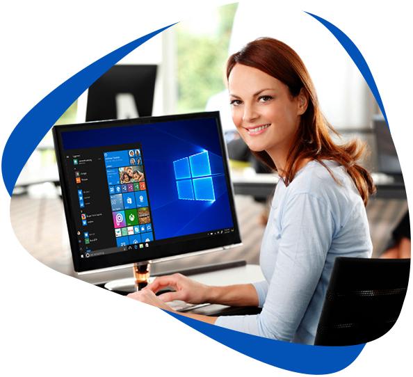 Windows 10 professional license for $10.56 per month per device